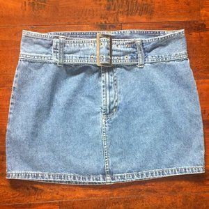 no boundaries Denim Mini Skirt